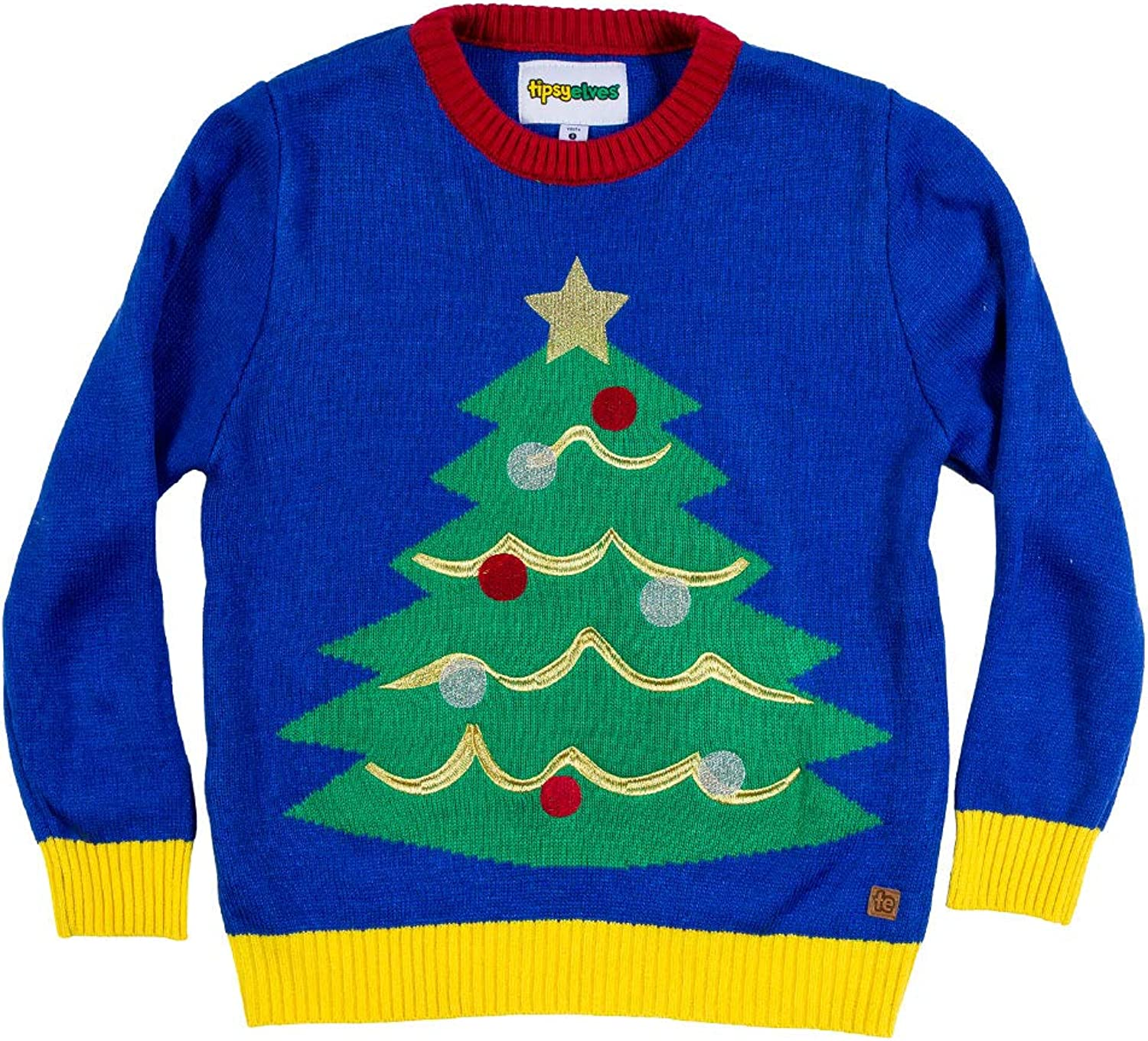 Amazon Com Tipsy Elves Children S Christmas Tree Ugly Christmas Sweater Youth Ugly Sweater Clothing