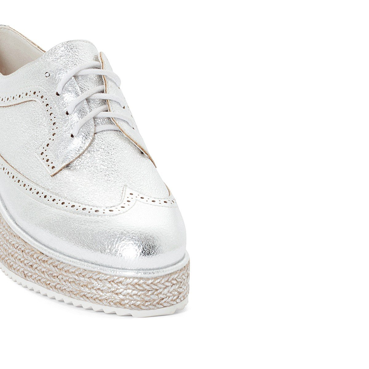 La Redoute Collections Leather Brogues with Woven Platform Sole genuine cheap price buy cheap from china dNzaB