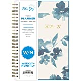 "Blue Sky 2020-2021 Academic Year Weekly & Monthly Planner, Flexible Cover, Twin-Wire Binding, 5"" x 8"", Bakah Blue"