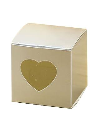 Cajas de regalo Hondex 50 piezas Caja de dulces con corazón Amor dulce para fiestas de