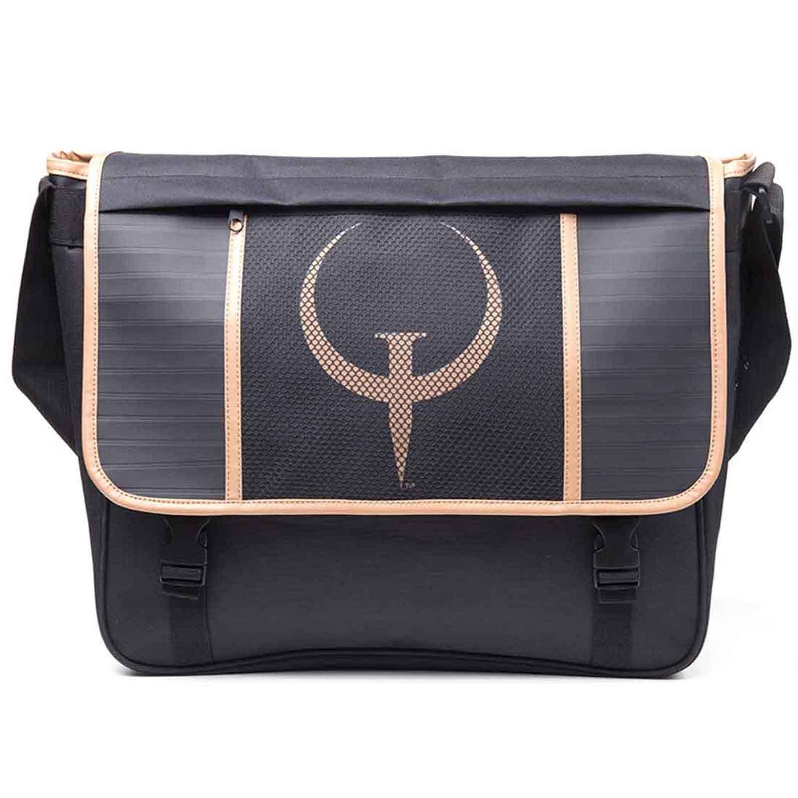 Quake Messenger Bag Emblem Logo Official Gamer Black