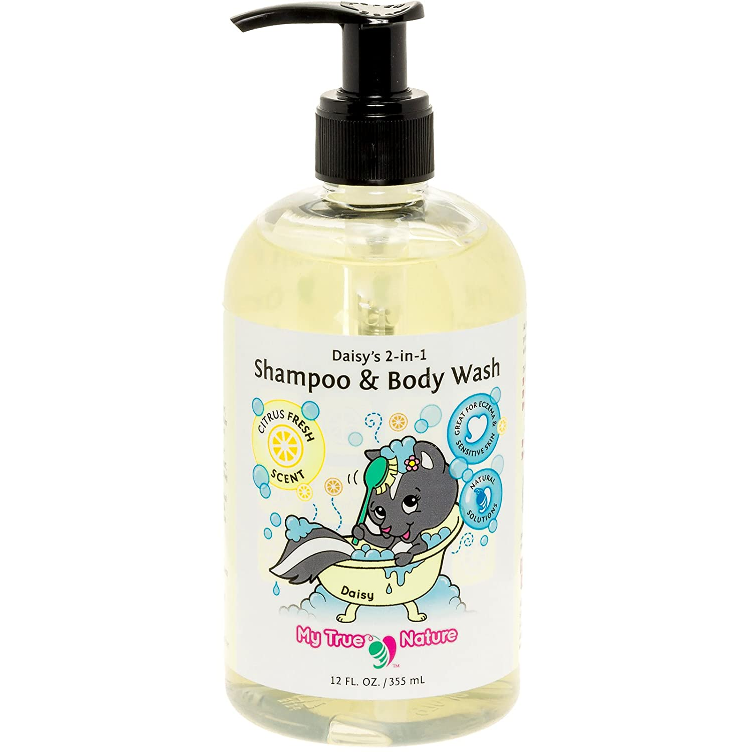 All Natural Baby Shampoo Body Wash - Daisys 2-in-1 Shampoo/Body Wash for Sensitive Skin