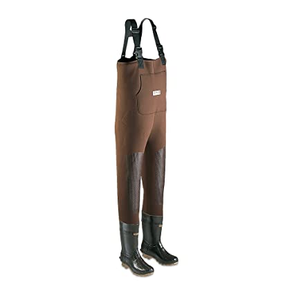 A2070 Forest Green Ranger Bluecat Heavy-Duty Mens All-Rubber Insulated Chest Waders