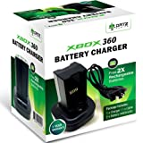 Ortz® Xbox 360 Battery Pack + FREE 2x Rechargeable Batteries with Charging Station - Best Quality Charger for X360 Wireless Controller - USB Cable & Dock Stand with 2 Batteries - Quick charge Kit (Black) - 1 YEAR WARRANTY