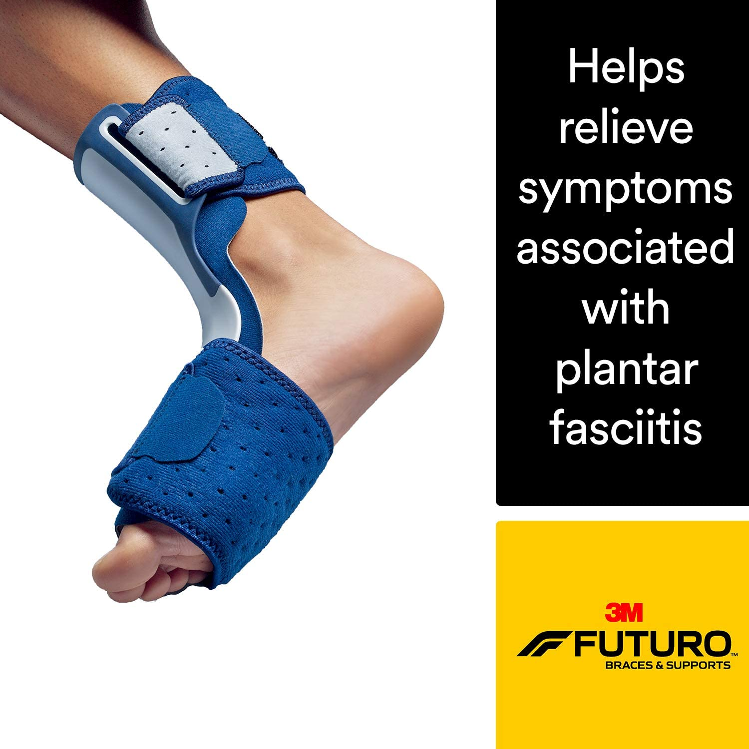 Futuro Night Plantar Fasciitis Sleep Foot Support, Helps Relieve Symptoms of Plantar Fasciitis, Firm Stabilizing Support, Adjust to Fit, Satisfaction Guaranteed