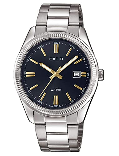 Casio Reloj Analógico para Hombre de Cuarzo con Correa en Acero Inoxidable MTP-1302PD-1A2VEF: Amazon.es: Relojes