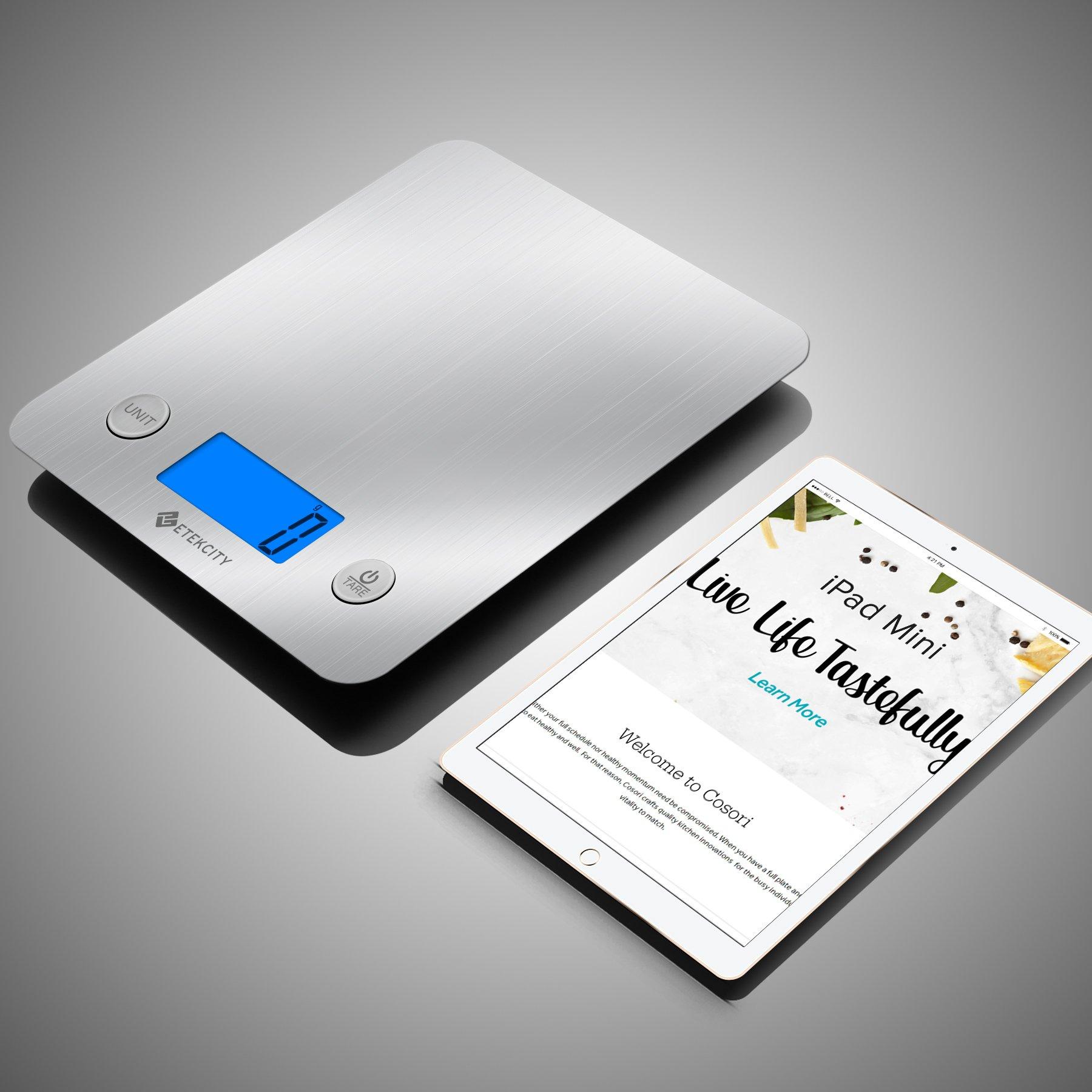 Etekcity EK6211 Digital Kitchen Multifunction Food Scale with Large Platform 11lb 5kg, Batteries Included (Stainless Steel) by Etekcity (Image #5)