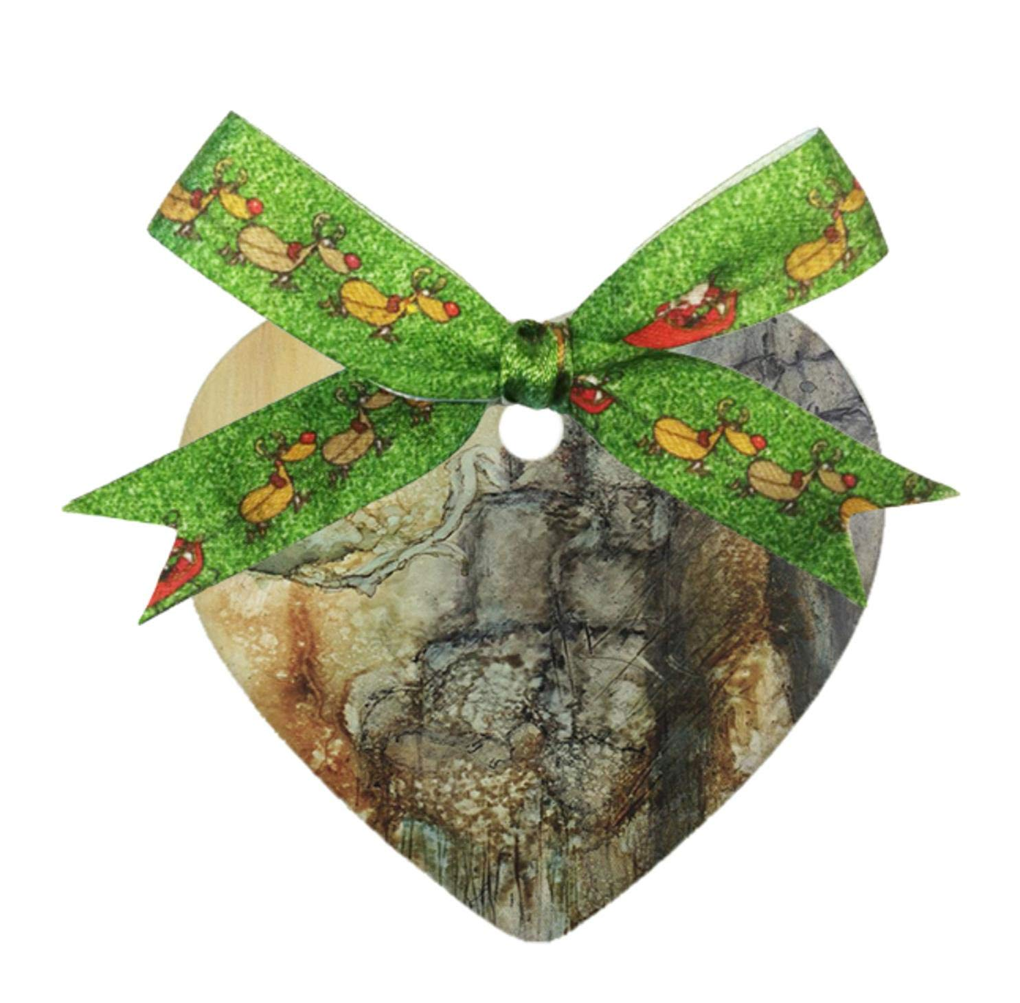 Decorative Hanging Ornaments Alcohol Ink Pastel Stone Wall Personalized Heart Porcelain Ornaments Christmas Ornaments Home Decoration