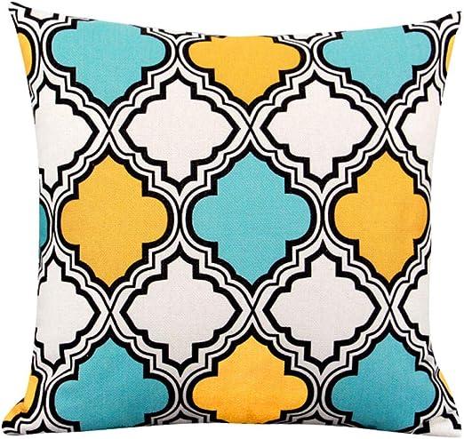 nuobaby - Funda de cojín Decorativa, diseño geométrico, algodón y ...