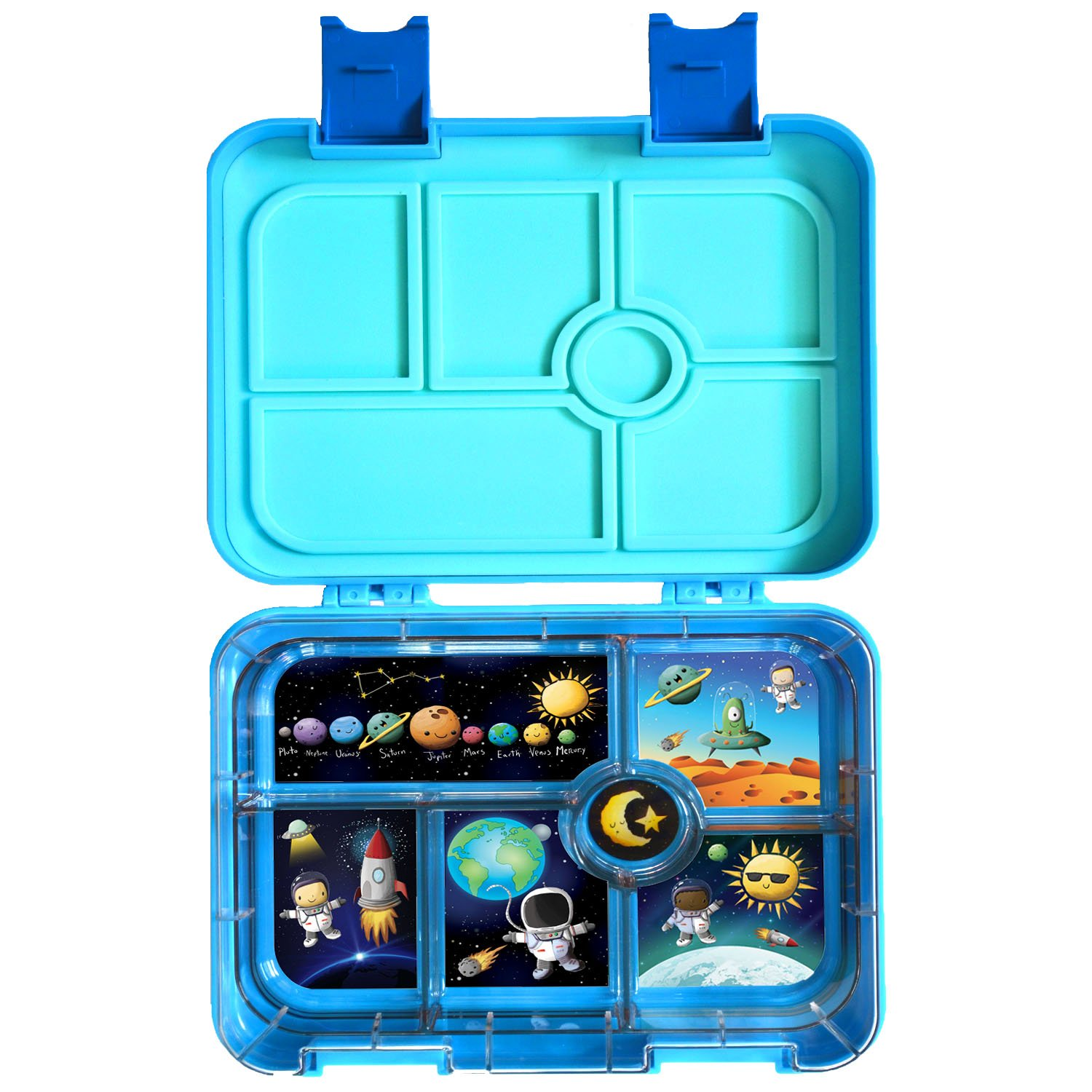 Gooj Kids Leak Proof Lunchbox With 6 Compartments Bpa Free And Dishwasher Safe Lunch Box Reusable Bento Box For Boys And Girls Amazon Ca Home