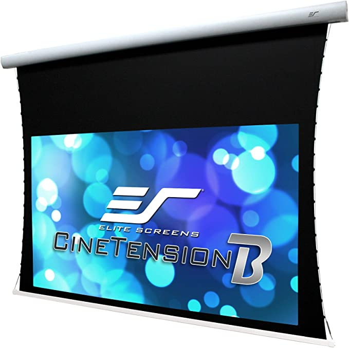 Elite Screens Cinetension B Series 135 Diagonal 16 9 Tab Tensioned Electric Drop Down Front Projector Screen Te135hw2b E24 Electronics Amazon Com
