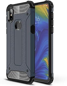 AOBOK Funda Xiaomi Mi Mix 3, Azul Profundo Moda Armadura Híbrida ...
