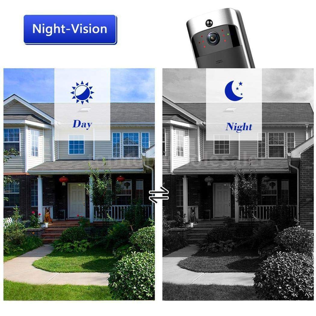 lantusi Durable Practical 166° Wide-Angle Wireless Phone Remote Doorbell Kits by lantusi (Image #2)