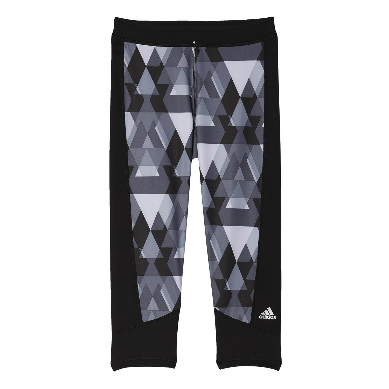 Adidas Techfit Capri Women 's Running Tight – ss16 XL ブラック B01A5W1KA6