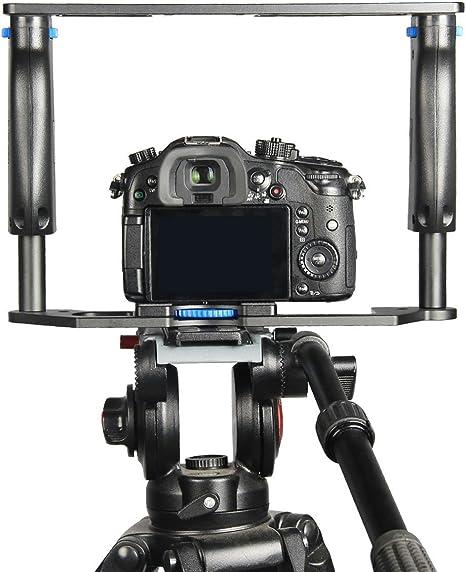 YELANGU aleación de aluminio cámara de cine películas vídeo jaula ...