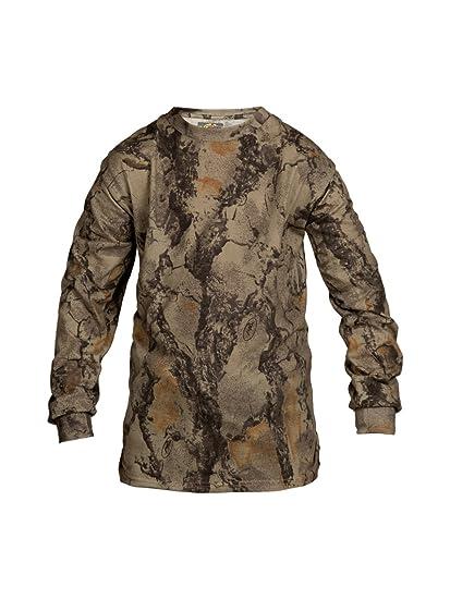 8af938bd28ebc Natural Gear Youth Long Sleeve Camo T-Shirt, Tagless and Preshrunk  Lightweight Shirt,