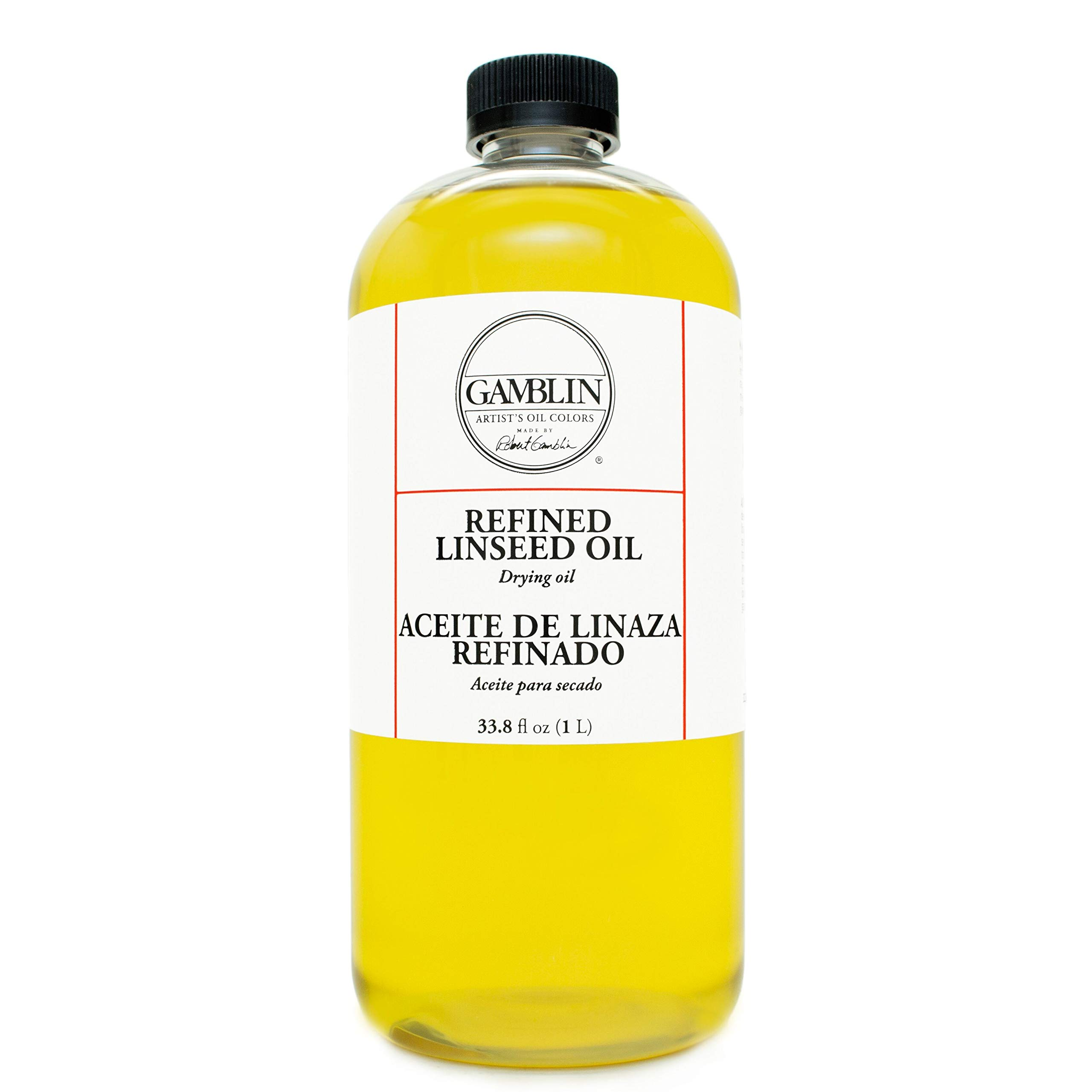 Refined Linseed Oil Size: 32 oz by Gamblin