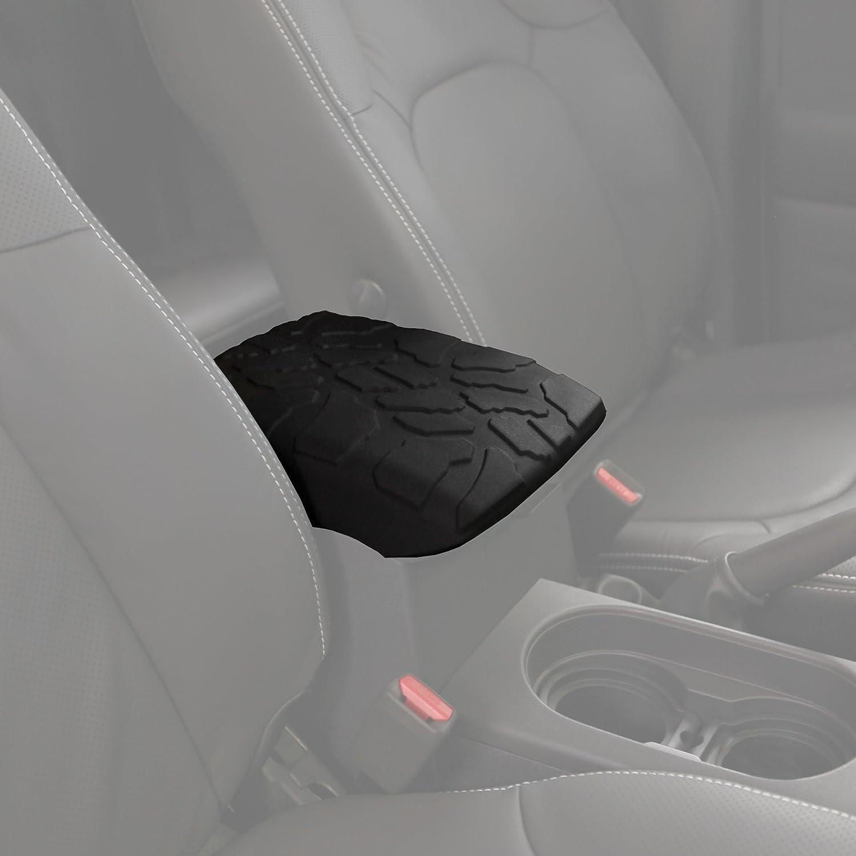 Center Console Armrest Cover Boomerang Tire Tread Armpad for 2005-2015 Nissan Xterra