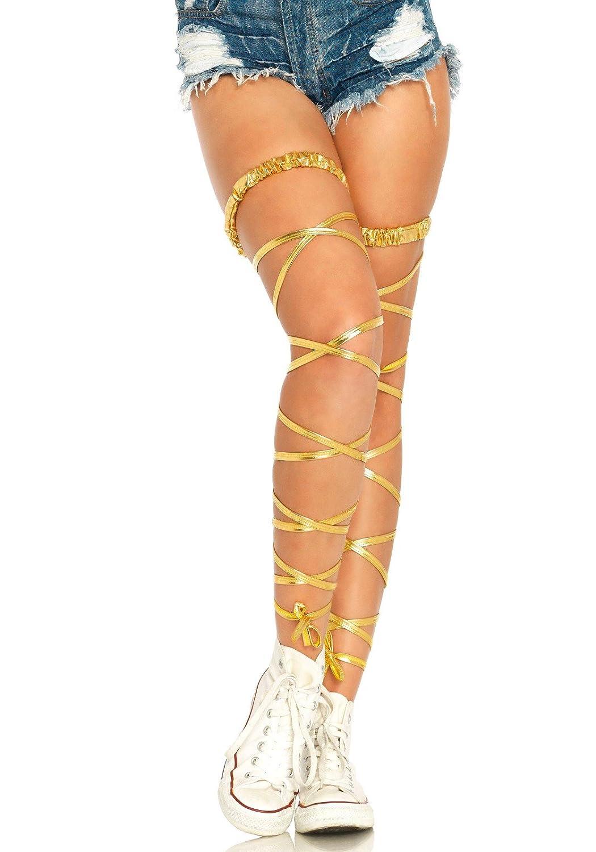 Metallic Gartered Leg Wraps Leg Avenue 1938 02622