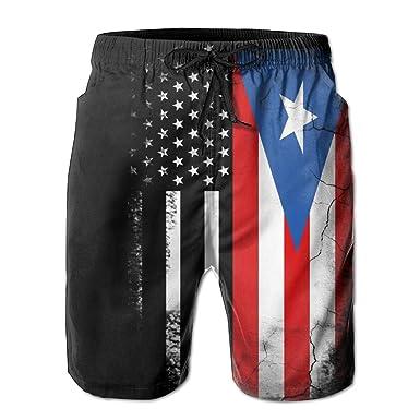 b43a0dc751 ZQ-SOUTH Men's USA Puerto Rico Flag Quick Dry Summer Beach Surfing Board  Shorts Swim Trunks Cargo Shorts | Amazon.com