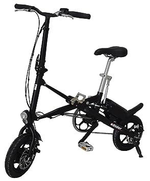 E Rider Eléctrico Aluminio Bicicleta Plegable Bicicleta eléctrica Bicicleta Plegable para Bicicleta Plegable Pedelec, Negro