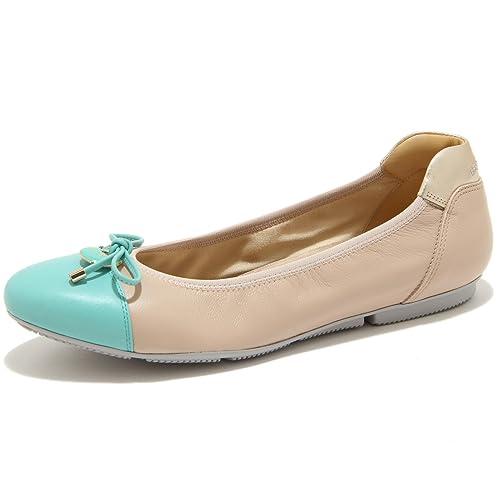 0695G ballerina beige verde HOGAN WRAP 144 CHARM ELASTICO scarpa donna shoes wom