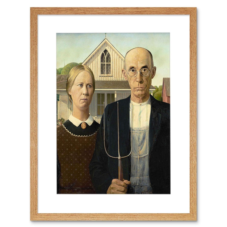 Grant Wood American Gothic Framed Art Print F12X8475 The Art Stop