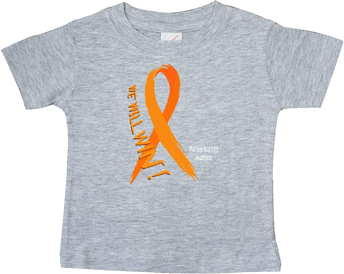 inktastic We Will Win Multiple Sclerosis Awareness Baby T-Shirt