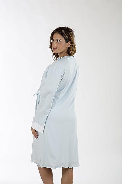 Premamy - Bata para Maternidad, Modelo de Frente Abierto, Jersey algodón, pre-Post-Parto: Amazon.es: Ropa y accesorios