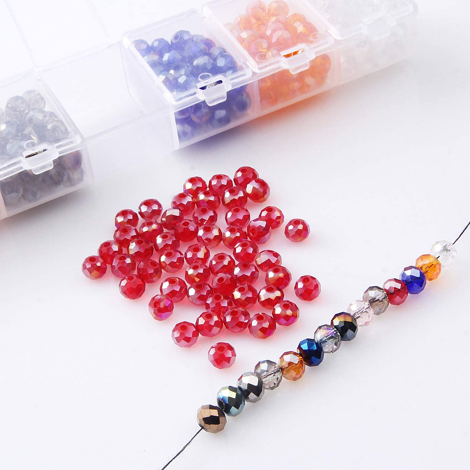 4x6mm 50pcs Rondelle Austria faceted Crystal Glass Beads Loose Spacer Bead NO.13