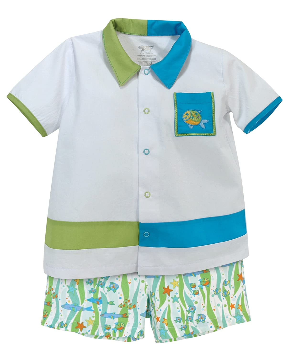 Stephan Baby Go Fish Bowling Shirt and Fishie Print Diaper Cover, 18-24 Months by Stephan Baby   B00WWPWZKO
