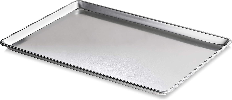 New Star Foodservice 36930 Commercial-Grade 18-Gauge Aluminum Sheet Pan/Bun Pan, 18