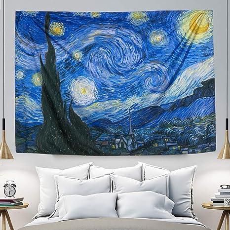 Stick Figure Tapestry Wall Hanging Art Home Bedspread Decor Outdoor Beach Throw