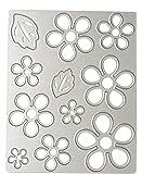 (デイリー スウィート)Daily Sweet スクラップブッキング ダイカット ダイカットテンプレート 炭素鋼製 花と葉