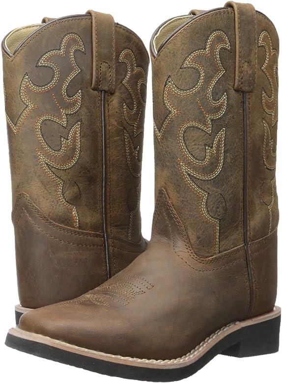 8.5 M US Toddler, Dark Crazy Horse Smoky Mountain Boots Kids Pueblo Leather