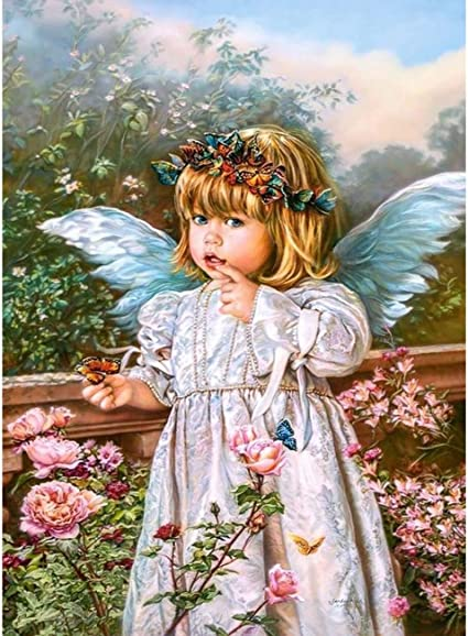My GUARDIAN ANGEL DIY 5D Diamond Painting Kit Full Square or Round Drill