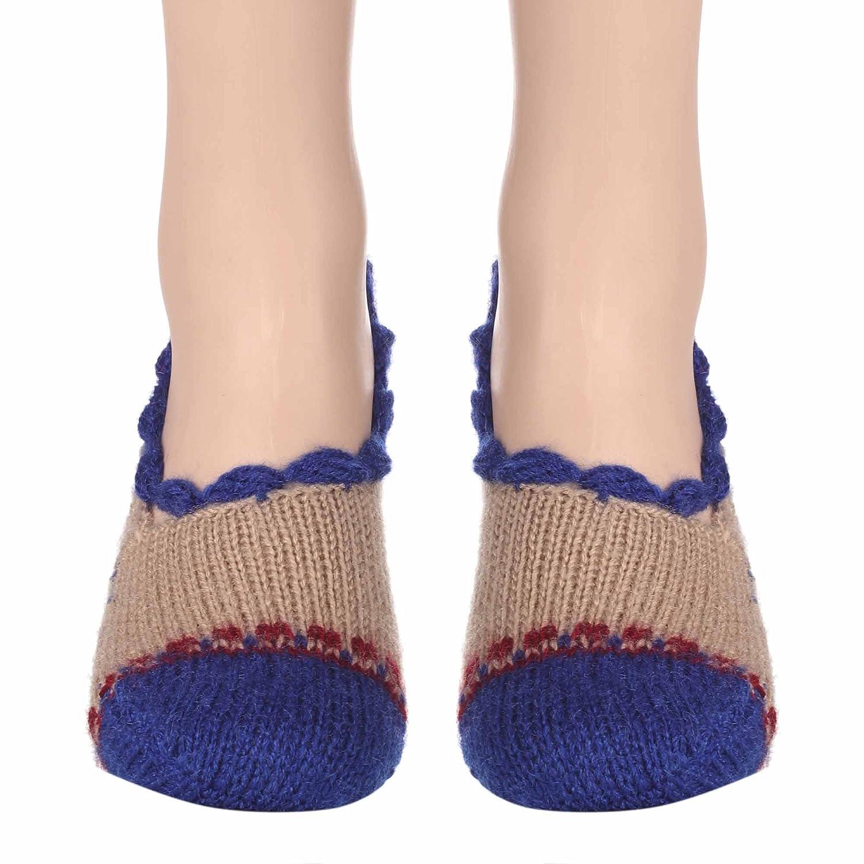e6a716cededb7 Handmade woolen socks (women) KC Hand Knitted Socks (Half work of Crochet):  Amazon.in: Clothing & Accessories
