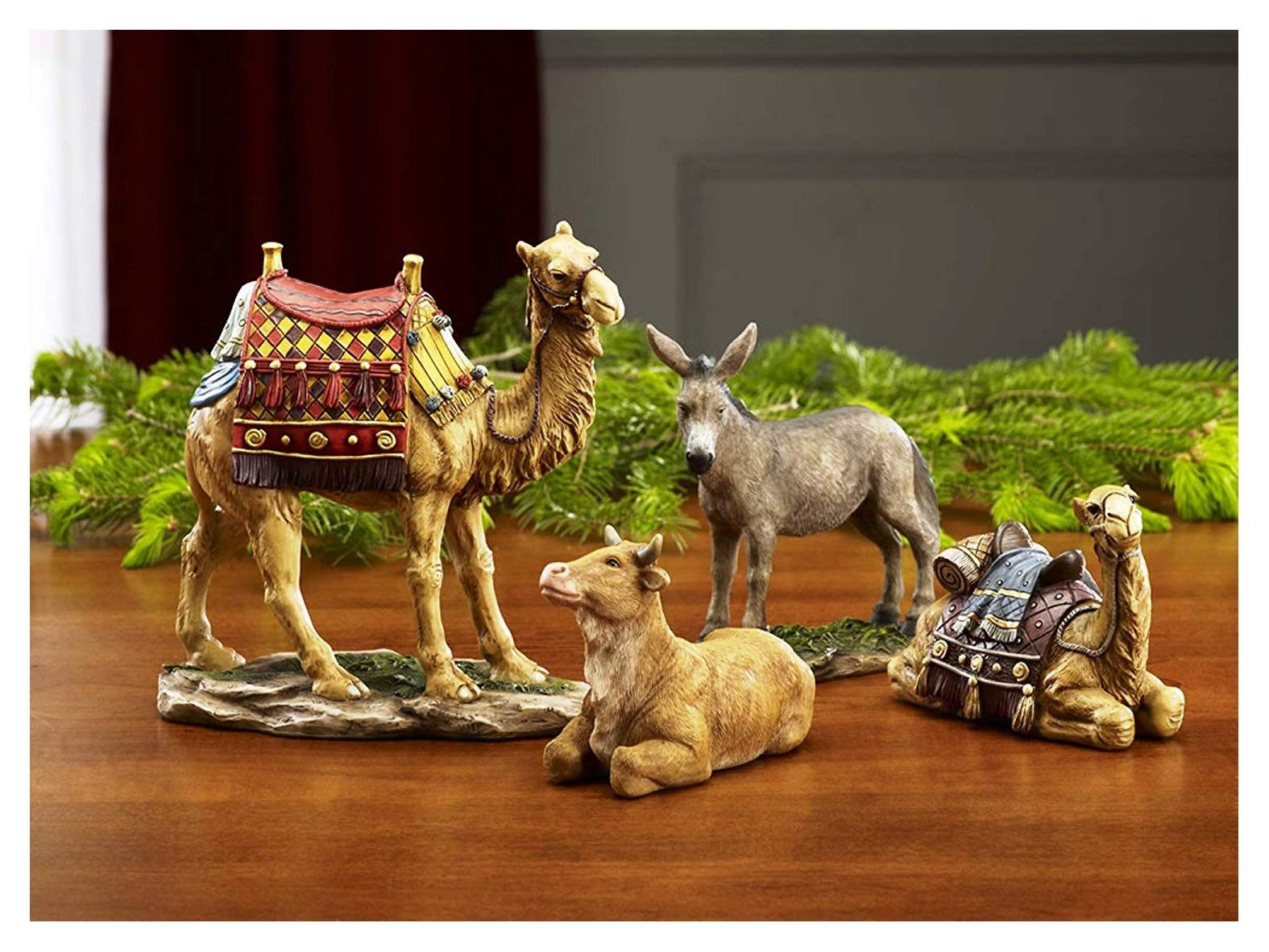 Set of 4 Christmas Nativity Animals Set - 10 inch Scale by Three Kings Gifts The Original Gifts of Christmas