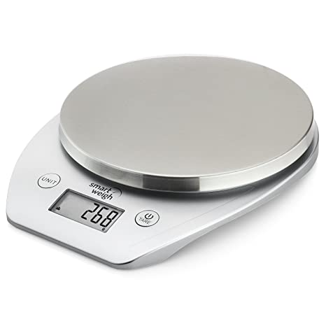 Smart Weigh Multifunction Digital Kitchen And Food Scale With Stainless Steel Platform Large Lcd Display And Six Weighing Modes 11lb 5kg X 1g 0 1oz