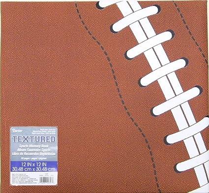 amazon com darice 12 5006 football themed scrapbook 12 by 12 inch