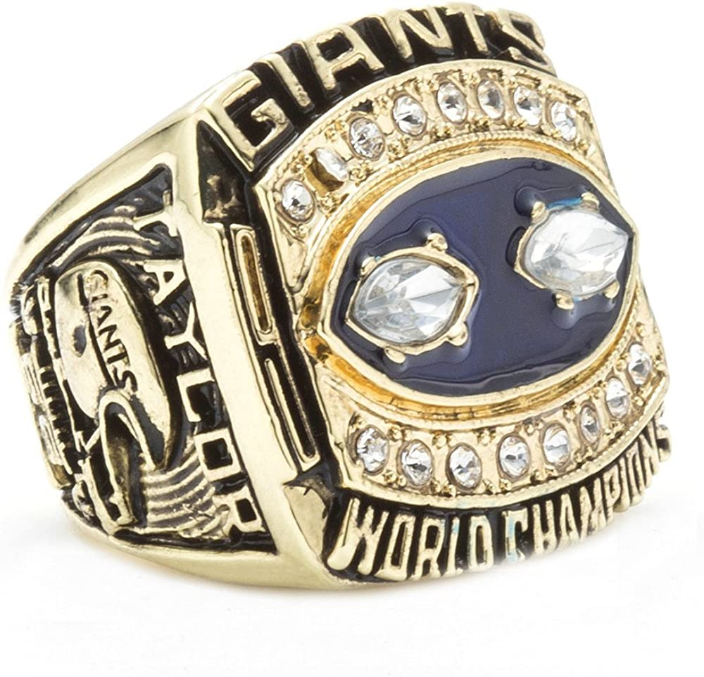 LANCHENEL Hombre 1990 New York Giants Campeonato Anillos