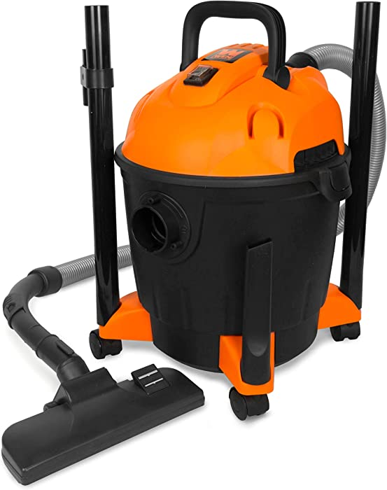 WEN VC4710 10-Amp 5-Gallon Portable HEPA Wet/Dry Shop Vacuum and Blower with 0.3-Micron Filter, Hose, and Accessories