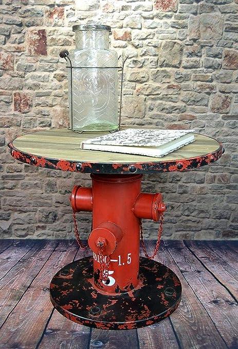 Livitat/® Beistelltisch Couchtisch Hydrant H50 cm Metall Vintage Industrie Look Loft LV5023