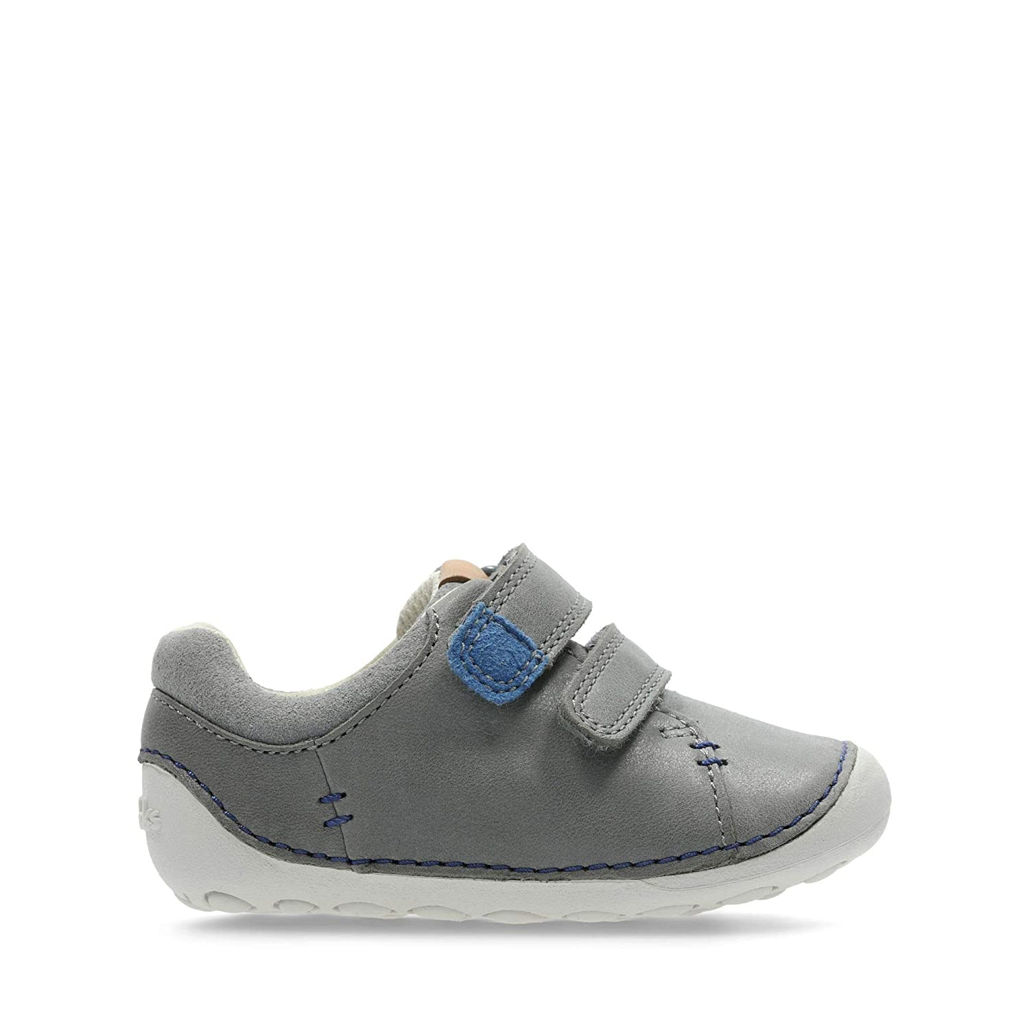 ad5e5cf3 Clarks Tiny Toby Toddler Leather Shoes in Grey: Amazon.co.uk: Shoes ...