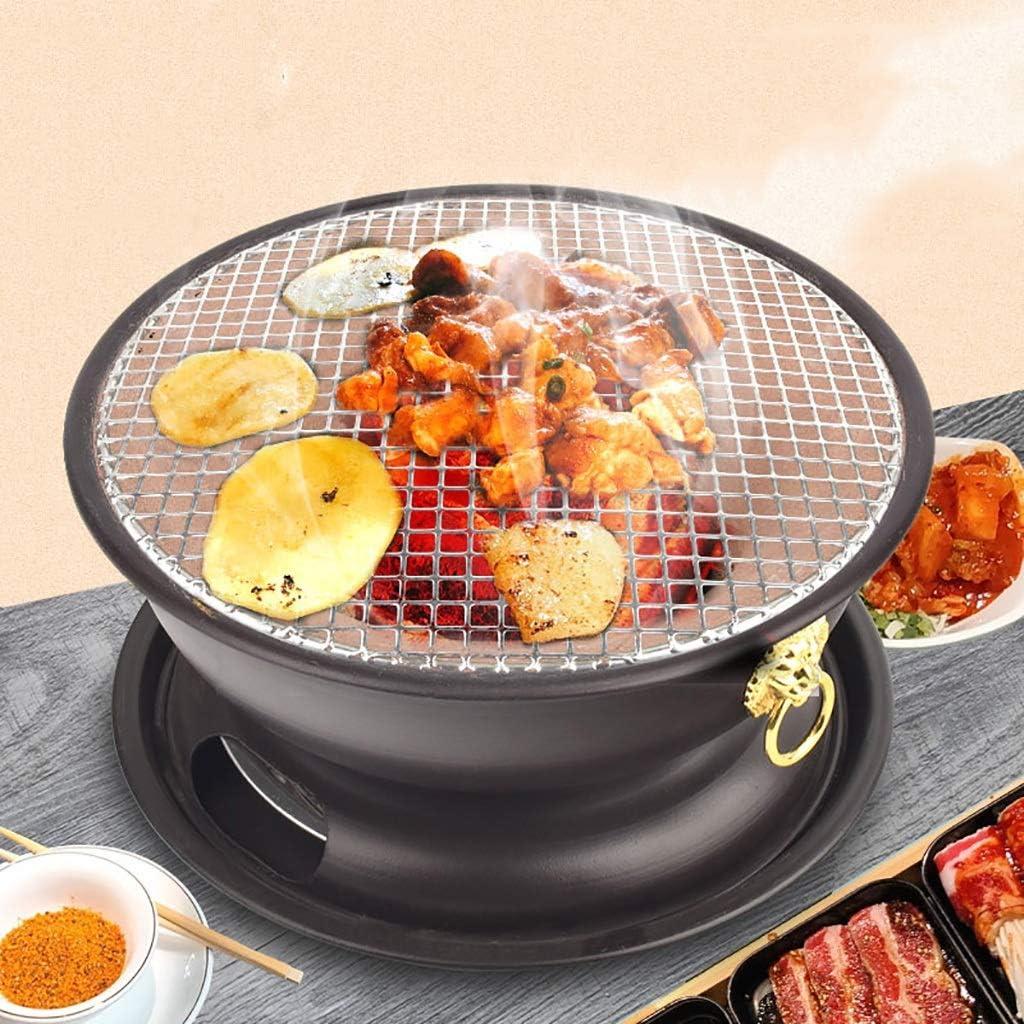 Guoguocy Grills électriques Barbecue, Faire Cuire Croix Grill, Vintage Barbecue au Charbon, Cuisinière de Boue, intérieur et extérieur, 4-6 Personnes, 4 Styles (Color : A) B