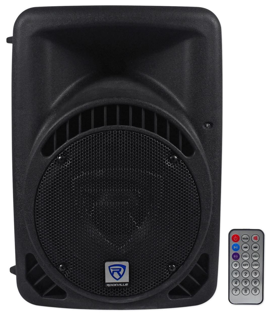 Rockville RPG8BT 8'' Inch Powered 400W DJ PA Speaker BlueTooth, USB, SD, Remote
