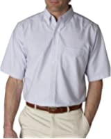 UltraClub Men's Classic Wrinkle-Free Short-Sleeve Oxford 8972
