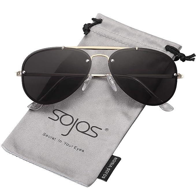 SOJOS Gafas De Sol Rimless Para Mujer Hombre Taches ...