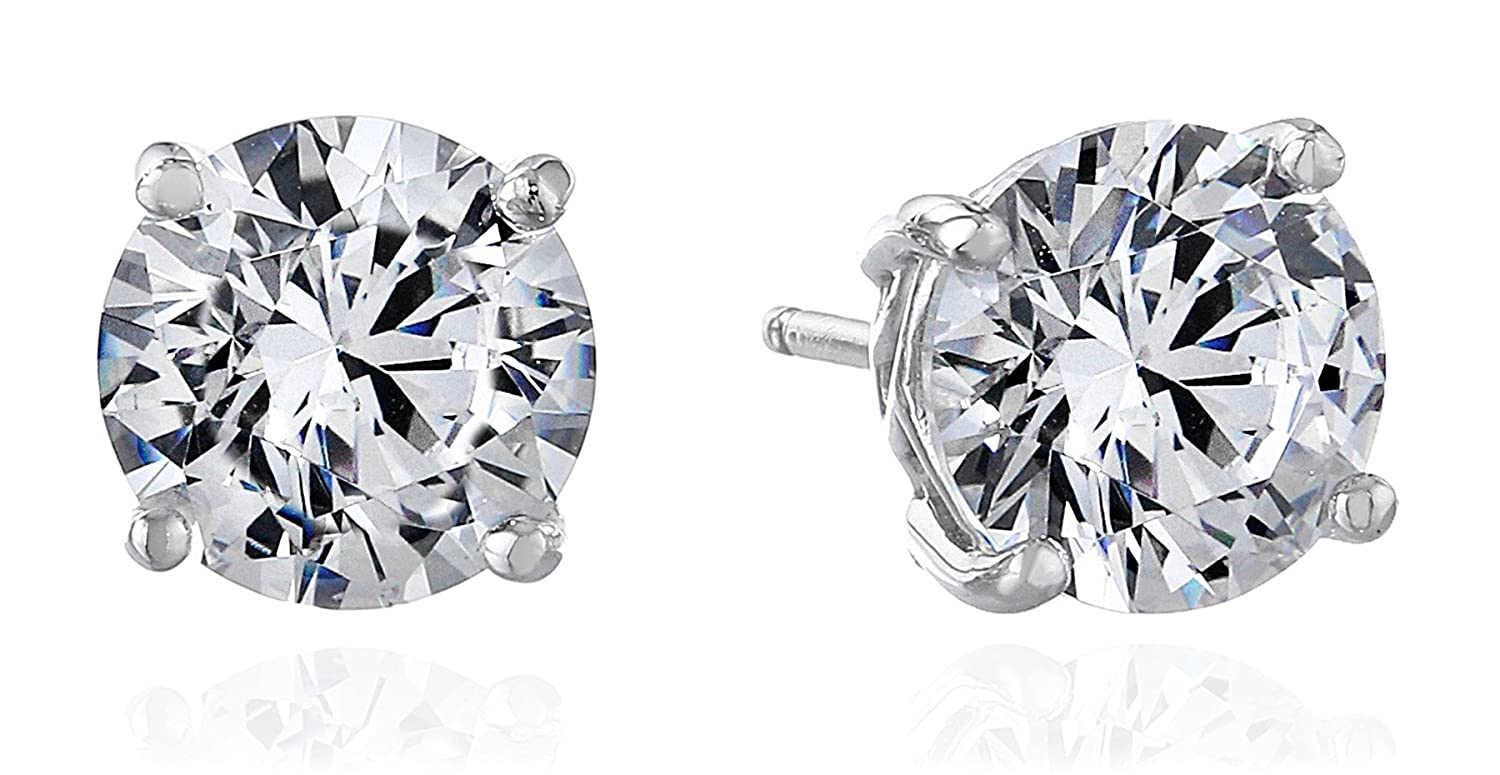 Amazon.com: Myia Passiello Timeless Swarovski Zirconia Stud Earrings:  Jewelry