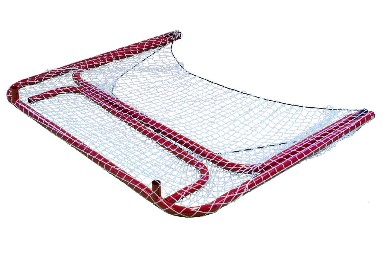 Park & Sun Sports ''Street Ice Hockey Goal with Folding Steel Frame and Nylon Bungee Slip Net, 54'' W x 44'' H x 24'' D